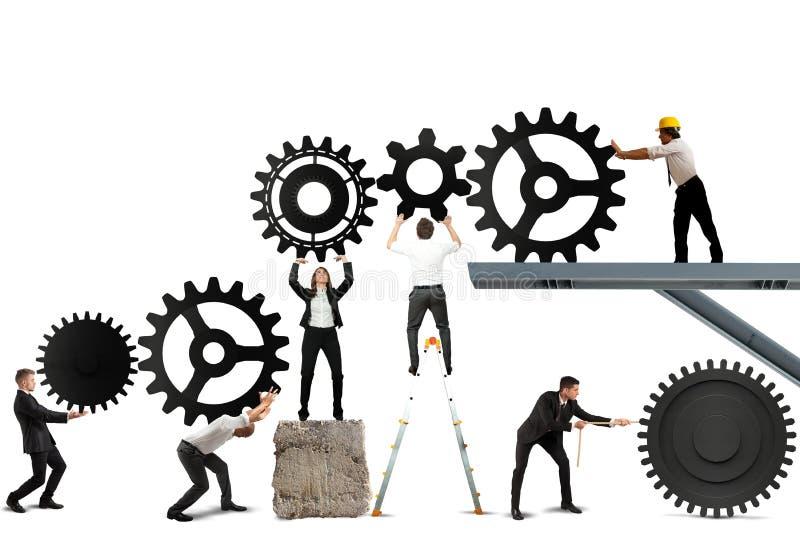 Teamwork av businesspeople royaltyfri fotografi