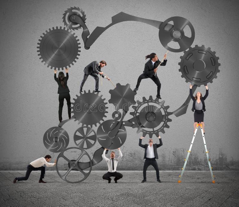 Teamwork av businesspeople vektor illustrationer