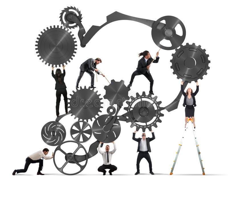 Teamwork av businesspeople royaltyfri illustrationer