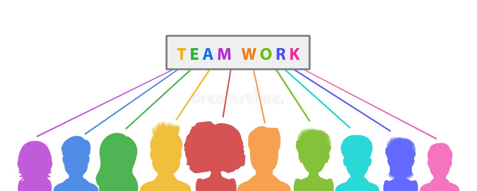 Teamwork banner design, collaboration abstract business concept. Flat style vector vector illustration