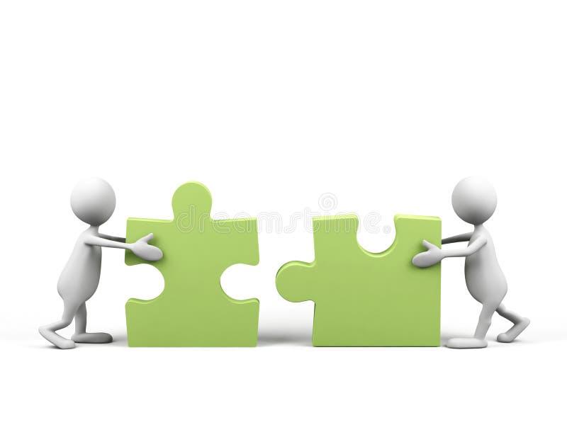 Teamwork. Bild 3d. vektor abbildung