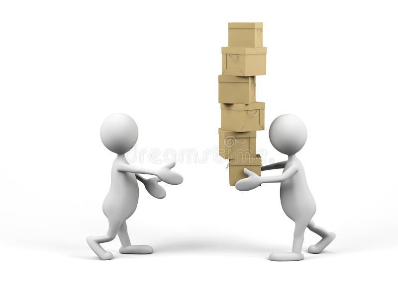 Teamwork. Bild 3d. lizenzfreie abbildung