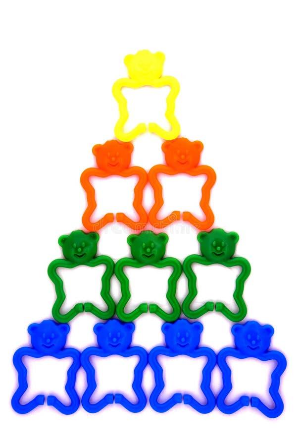 Teamwork building - pyramid stock image
