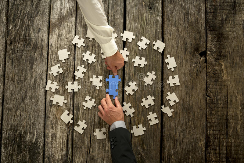 Teamwork in business concept stock photo