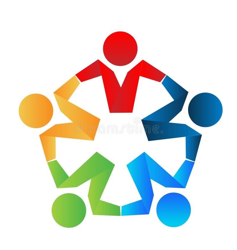Teamwork business partners logo stock illustration