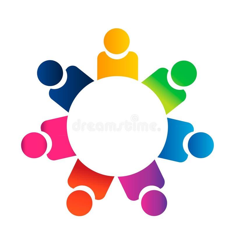 Teamwork business people vector illustration