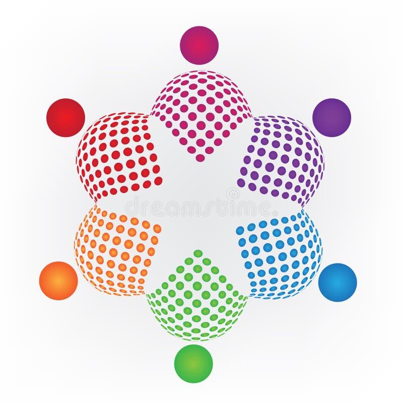 Teamwork business people logo vector illustration