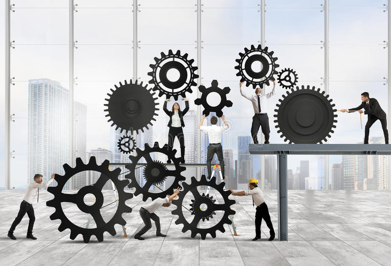 Teamwork of businesspeople royalty free stock images