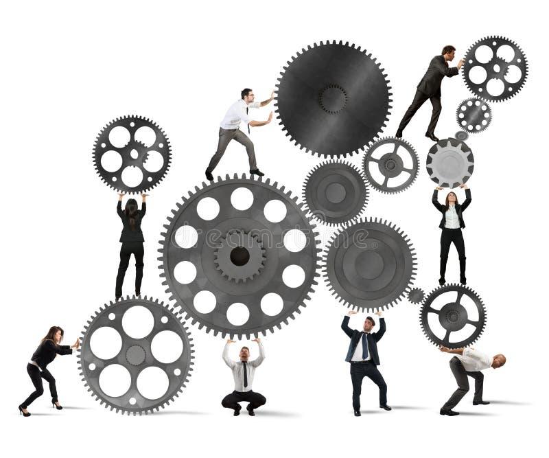 Teamwork of businesspeople royalty free illustration
