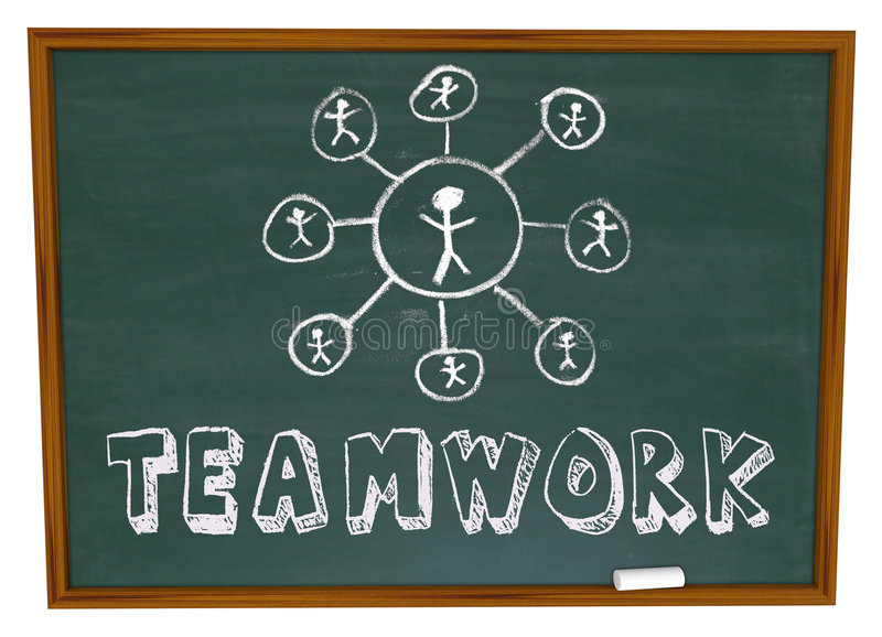 Download Teamwork Chart - Chalkboard Royalty Free Stock Images - Image: 9234919