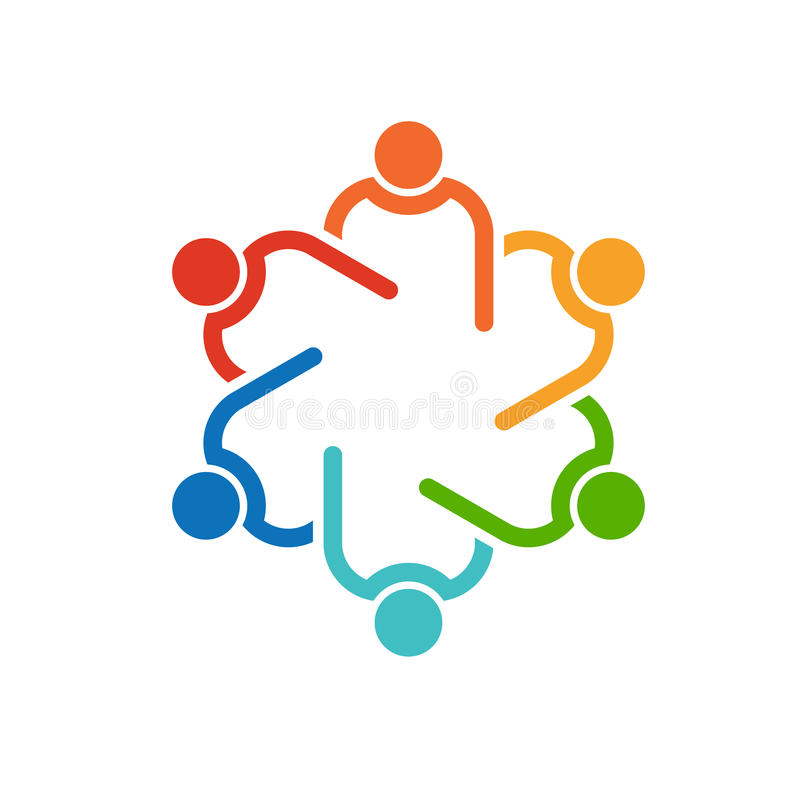 People Logo. Collaboration team royalty free stock photography