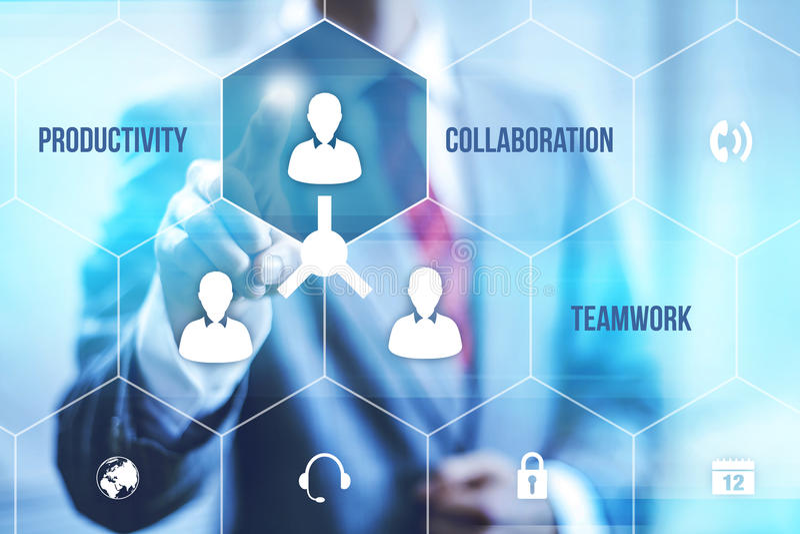 Teamwork royalty free illustration