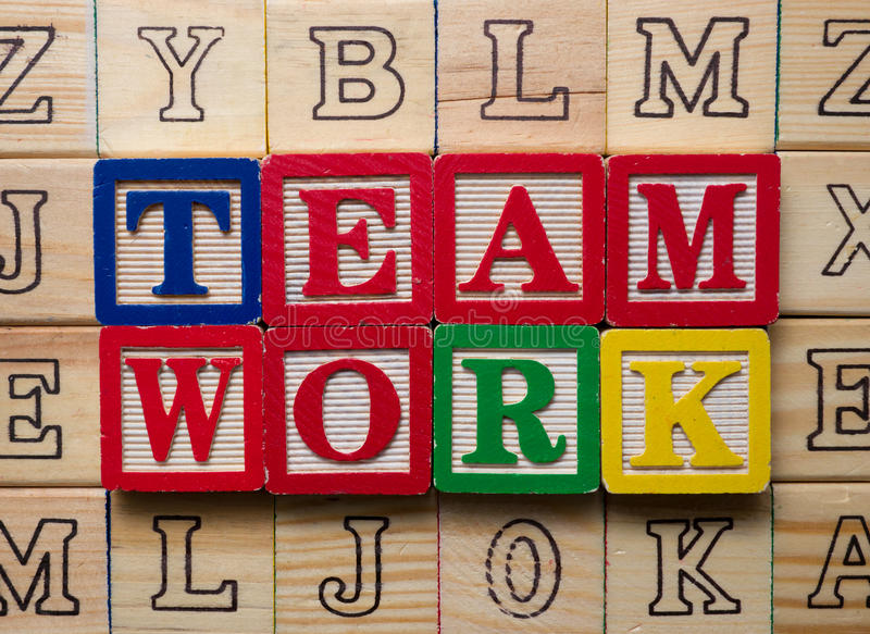 Download Teamwork concept stock image. Image of words, raised - 24585087