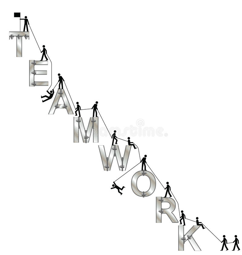 Download Teamwork concept stock vector. Illustration of mountaineering - 26111521