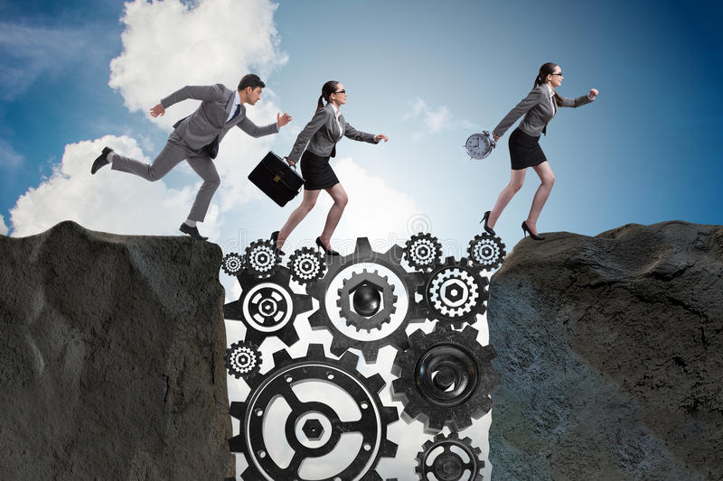 The teamwork concept with business people stock photos
