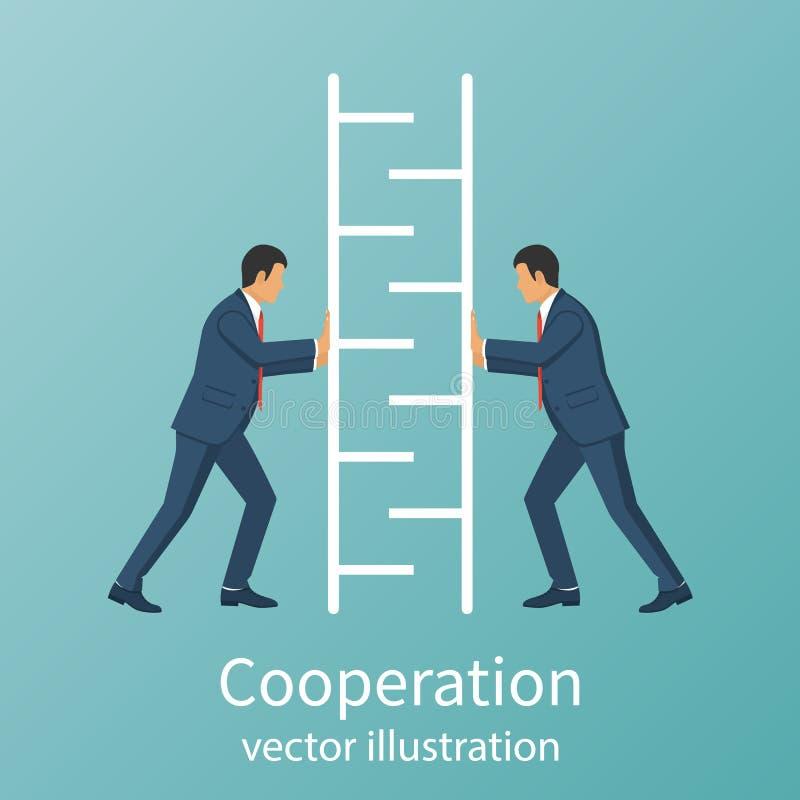 Teamwork concept business people vector illustration
