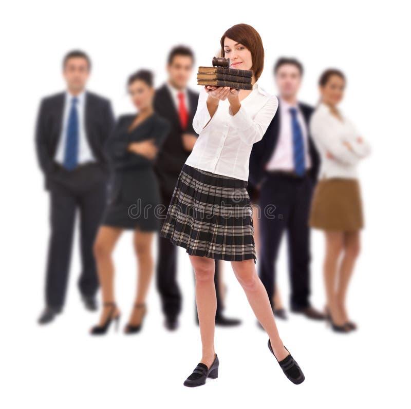 Download Teamwork Concept With Gavel Stock Photo - Image of businessman, teamwork: 12872430