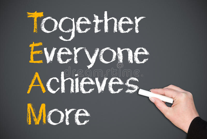 Teamwork concept royalty free stock photos