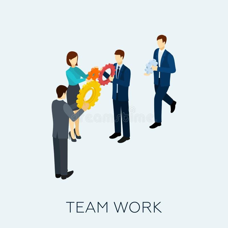 Teamwork Concept Isometric stock illustration