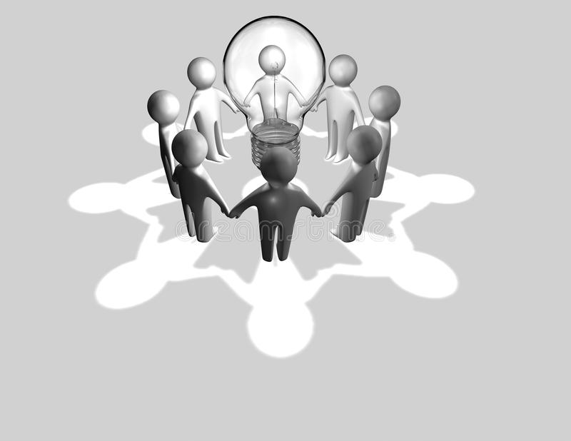 Download Teamwork Concept With Team Of 3d Rendered People Stock Illustration - Image: 36925099
