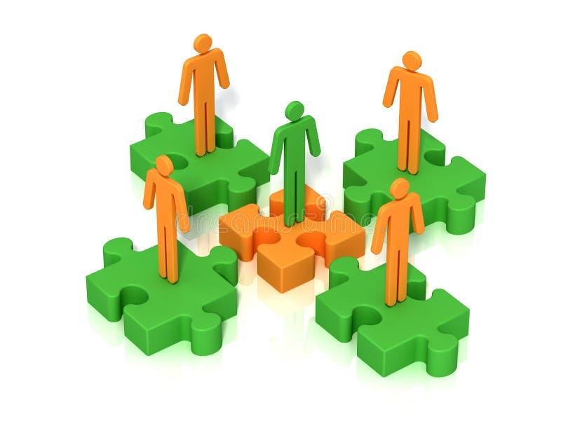 Teamwork connection stock illustration