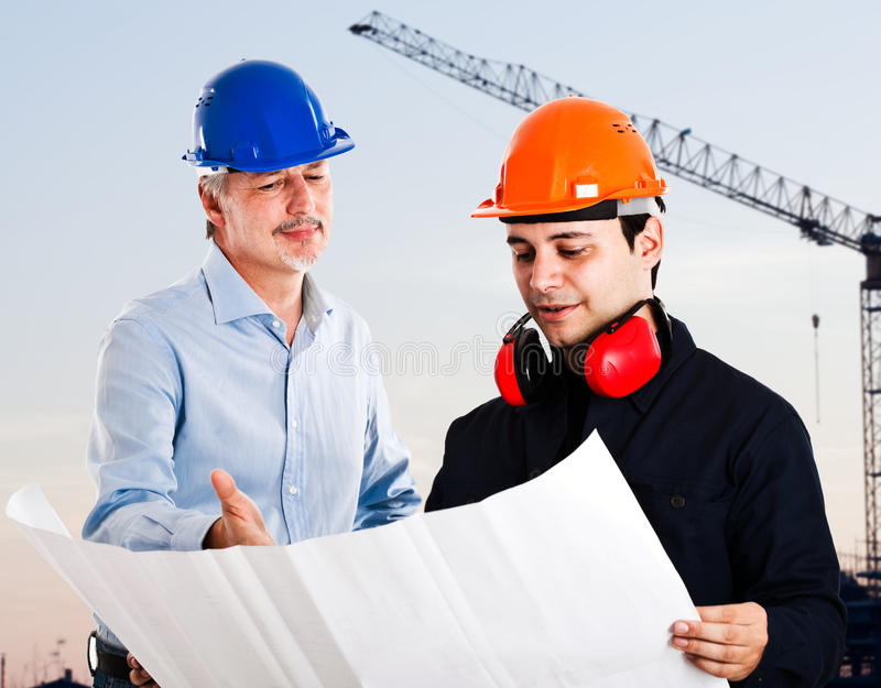 Teamwork in a construction site