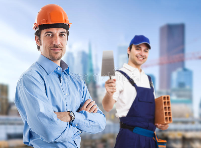 Download Teamwork In A Construction Site Stock Photo - Image: 26830588