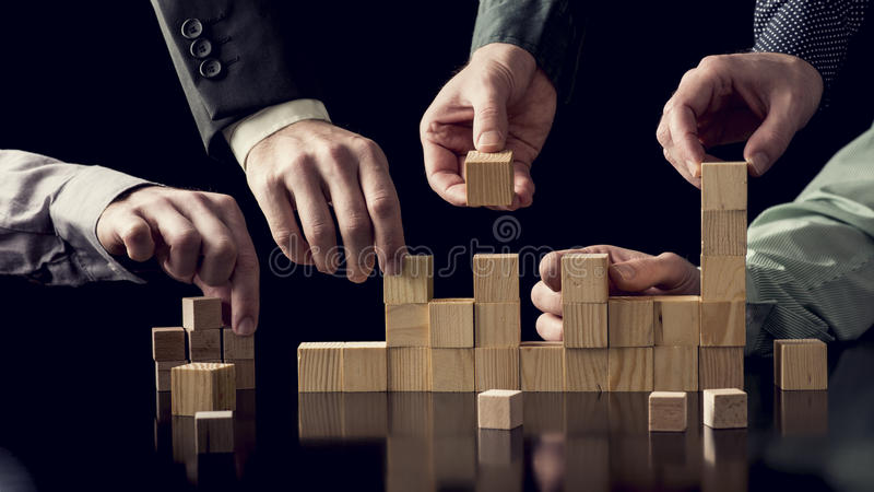 Teamwork and cooperation concept stock photos