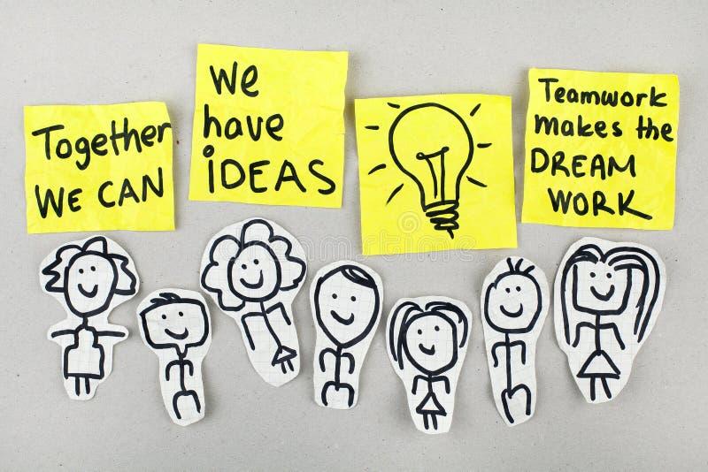 Teamwork Creativity Ideas Concept royalty free stock photo