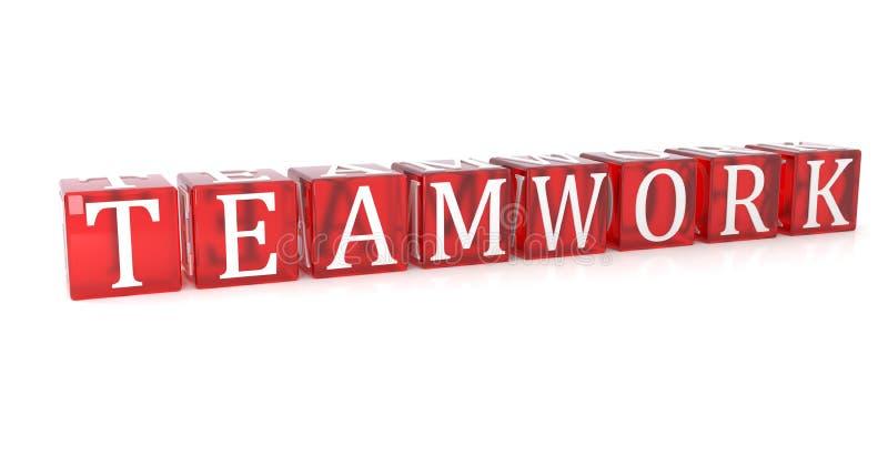 Teamwork Cube text on white background royalty free illustration