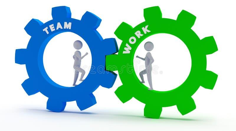 Teamwork - 3D Stickmen stock abbildung
