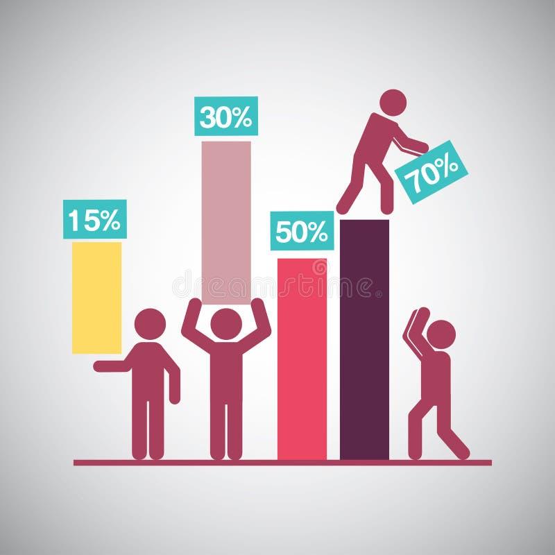 Teamwork design stock illustration