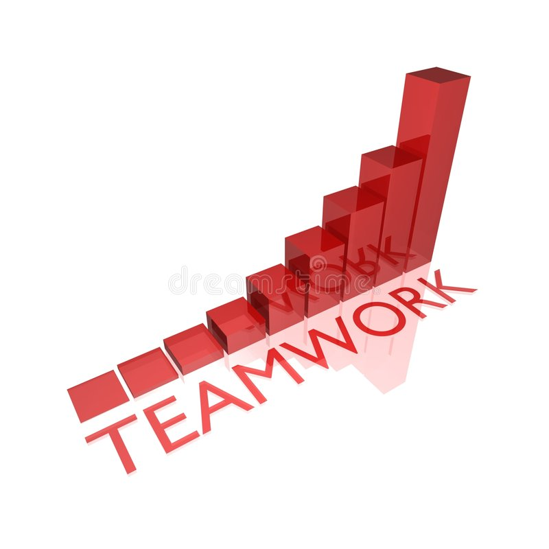 Teamwork Diagram Royalty Free Stock Image