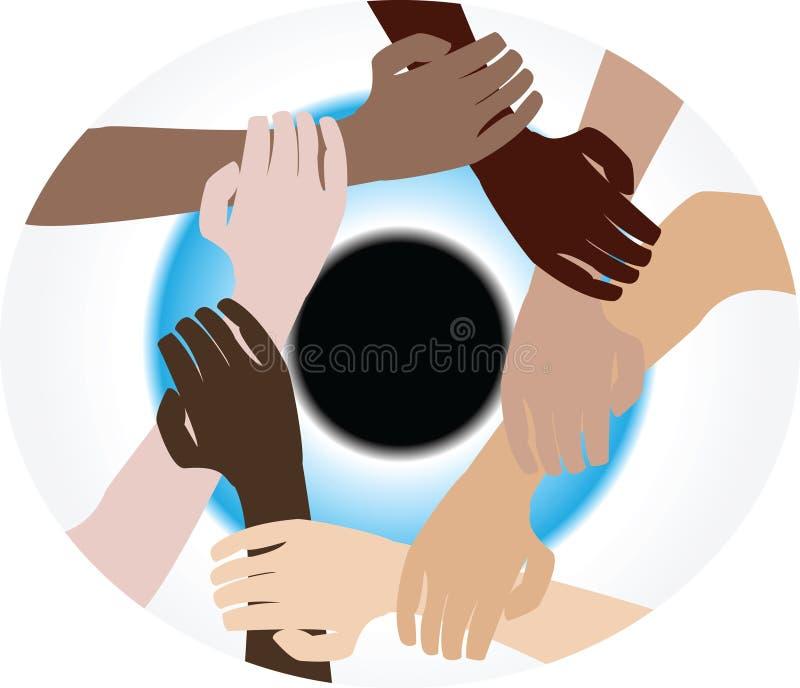 Teamwork diversity royalty free illustration