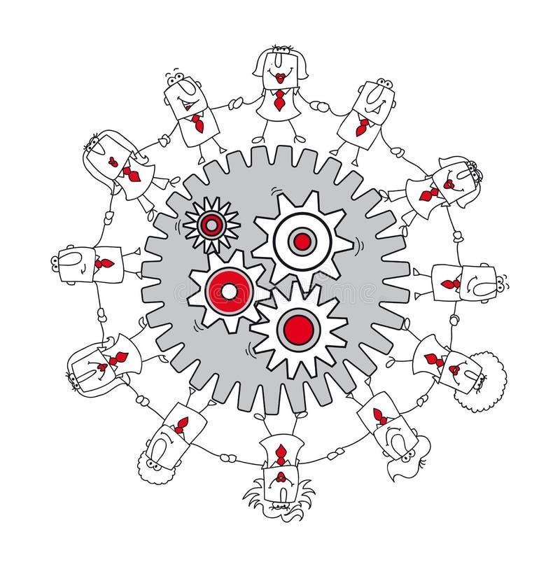 teamwork för affärsidédiagrambild stock illustrationer