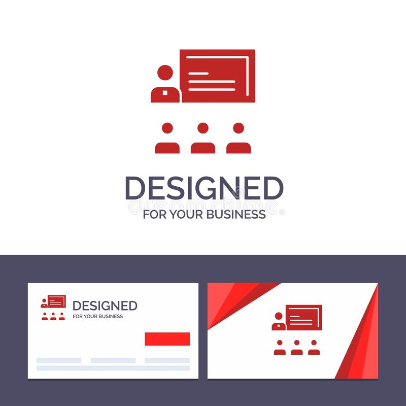 Teamwork för idérik mall för affärskort och logo, affär, människa, ledarskap, ledningvektorillustration stock illustrationer