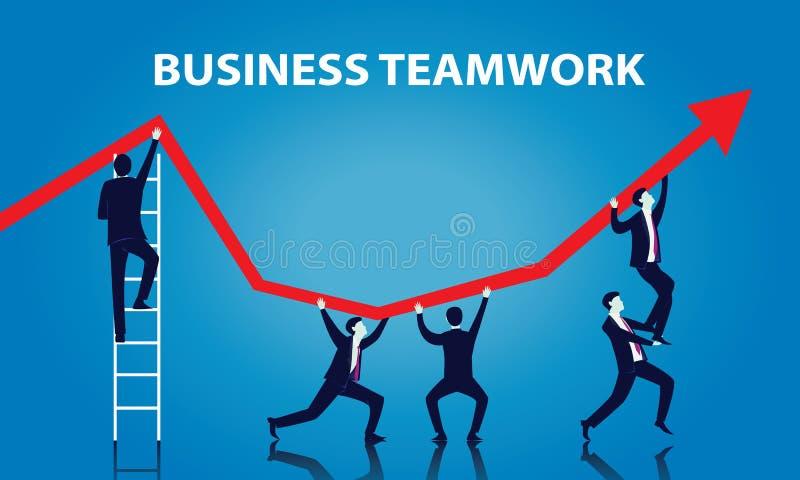 teamwork för pussel för grupp för byggnadsaffärsidékonstruktion royaltyfri illustrationer