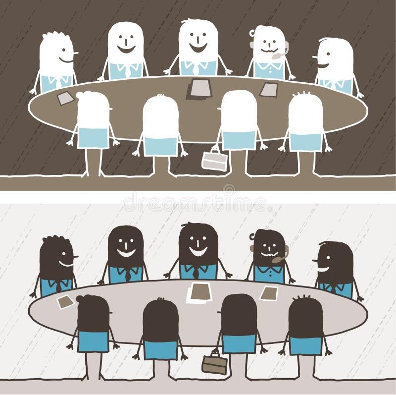 Teamwork Farbige Karikatur Stockfotografie