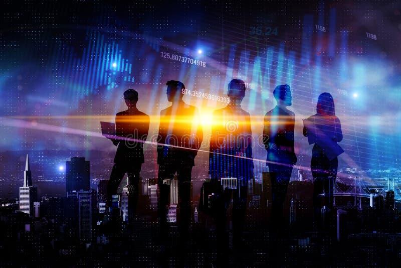 Teamwork-, finans- och framgångbegrepp royaltyfri bild