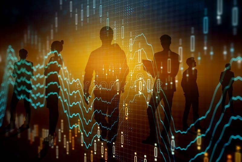 Teamwork-, finans- och investeringbegrepp royaltyfria bilder