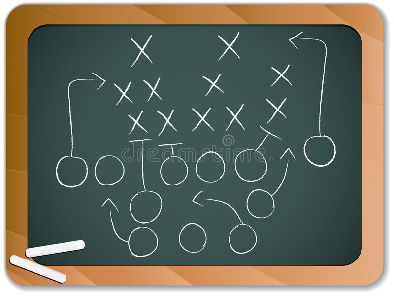 Teamwork Football Game Plan stock illustration