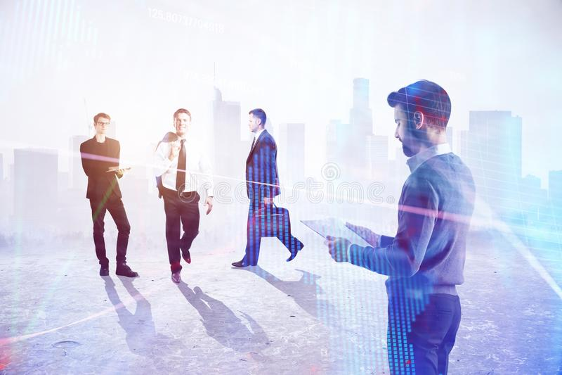 Teamwork-, framgång- och arbetsbegrepp royaltyfria bilder
