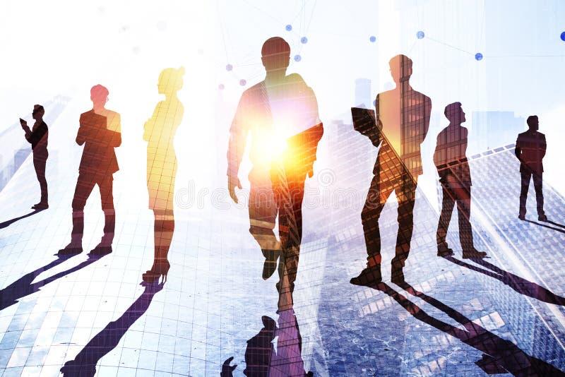 Teamwork-, framgång- och forskningbegrepp royaltyfri foto