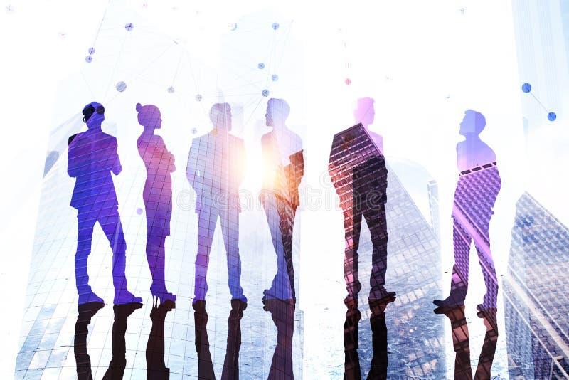 Teamwork-, framgång- och mötebegrepp arkivbilder