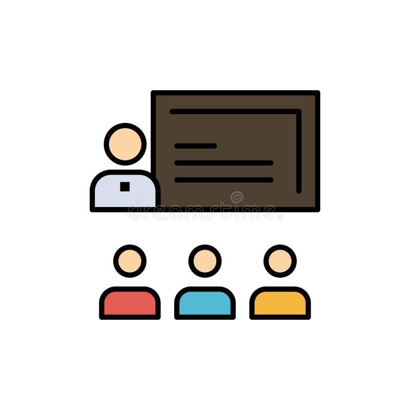 Teamwork, Geschäft, Mensch, Führung, Management-flache Farbikone Vektorikonen-Fahne Schablone stock abbildung