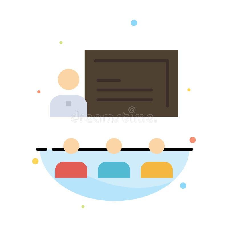 Teamwork, Geschäft, Mensch, Führung, Management-Zusammenfassungs-flache Farbikonen-Schablone stock abbildung