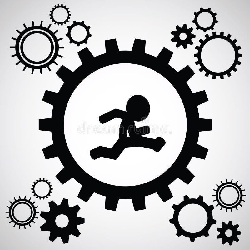 Teamwork Graphic Design stock illustration