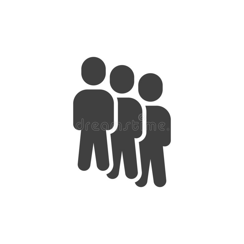 Teamwork group vector icon royalty free illustration