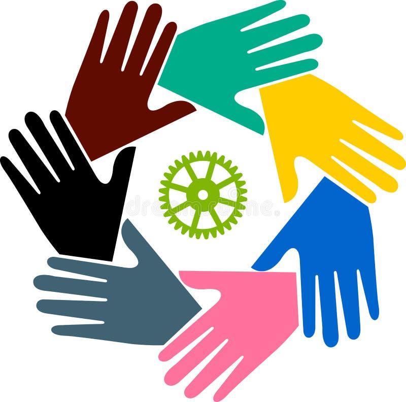 Download Teamwork hand logo stock illustration. Image of competition - 22153574