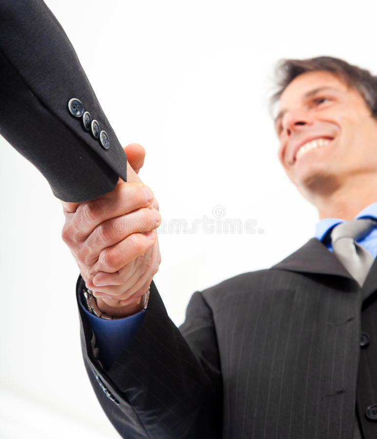 Teamwork handshake royalty free stock photo